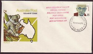 1977 *RARE* COVER COMMEMORATING OPENING OF PORT AUGUSTA PHILATELIC SALES CENTRE