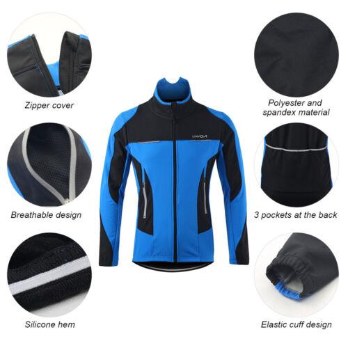 Lixada Men Winter Cycling Clothing Thermal Long Sleeve Bicycle Jersey+Pants B7U3