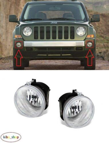 RIGHT FOR JEEP PATRIOT 2006-2009 2X NEW FRONT FOG LIGHT LAMPS PAIR LEFT