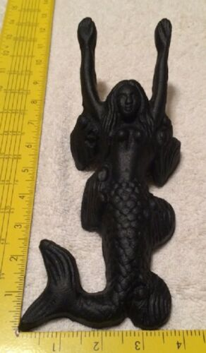 "Black Cast Iron Mermaid Child/'s Boot Jack Nautical Decor 10/"" long 0170-04442"