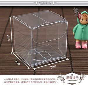 New 50pcs CLEAR PVC Boxes 13 SIZES Wedding Party Bomboniere Candy Favor Favour