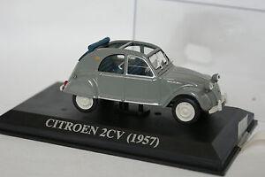 Ixo-Presse-1-43-Citroen-2CV-1957-Grise