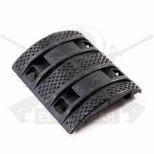 Black Picatinny 1913 Rail Panels Textured Protection Anti-slip Grip Covers x4