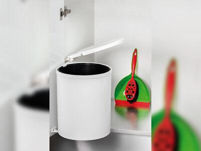 LiebenswüRdig 13 Liter Automatischer Abfalleimer Grau Für Küche Mülleimer Runde Müllbehälter