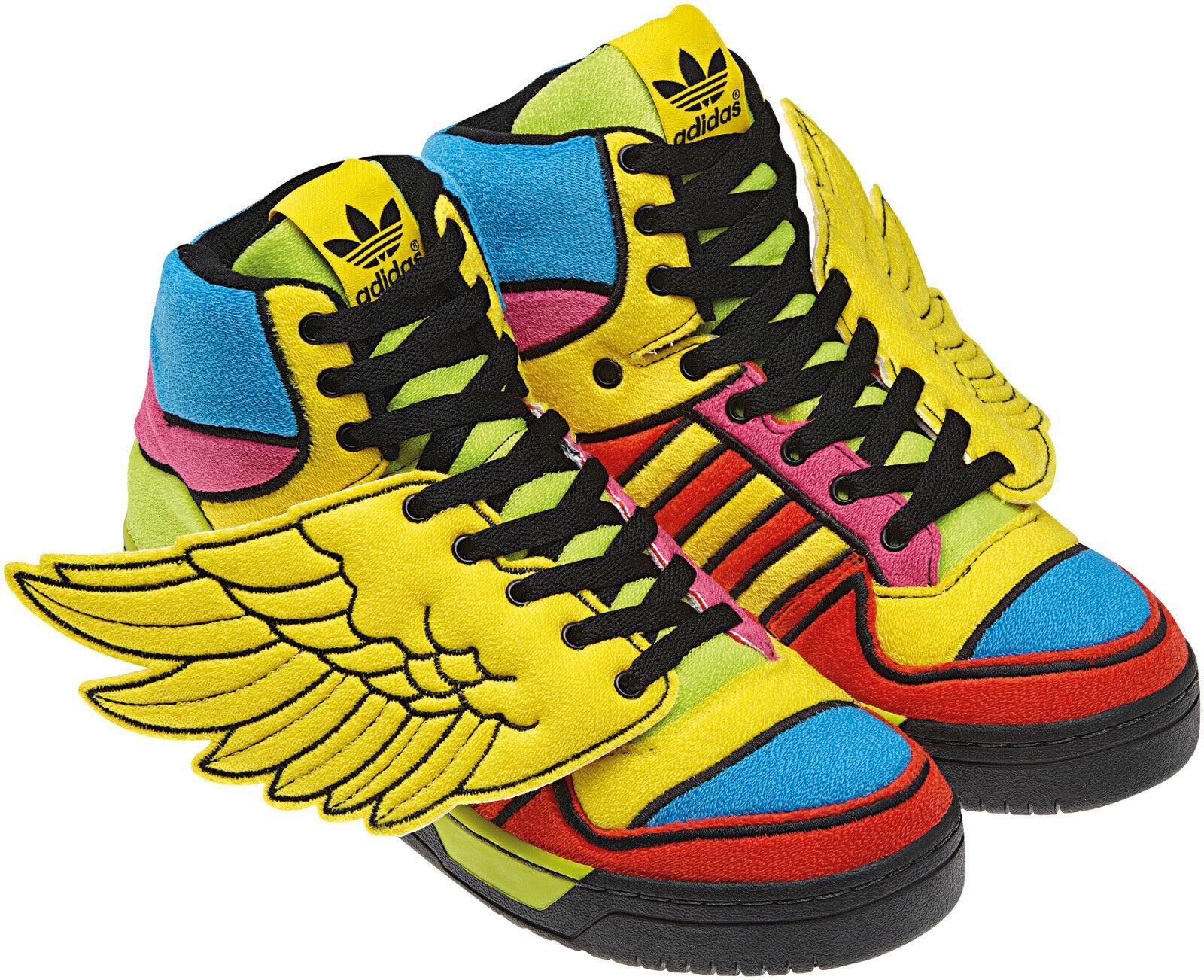 RAREAdidas JEREMY SCOTT WINGS JS OBYO Sneakers CHENILLE shoes teddyMens size 8