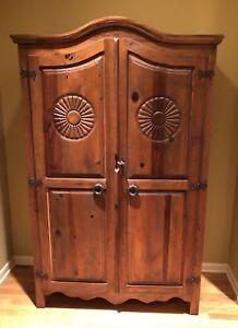 Rustic Liquor Cabinet Wood Antique Style Storage Pantry ...