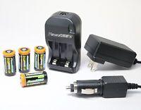 4x Batteries + Charger For Nikon F55 F6 F60 F65 F70 F80 N70 N75 N75qd N80 N80qd