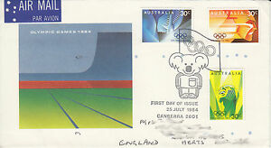 FDC  19840725  Olympic Games 1984 - <span itemprop=availableAtOrFrom>Harrogate, United Kingdom</span> - FDC  19840725  Olympic Games 1984 - Harrogate, United Kingdom