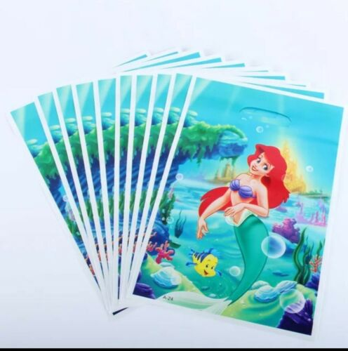 The Little Mermaid Ariel Kids Happy Birthday Party Favour Bags Loot Bags