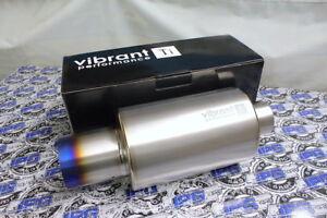 "4/"" Round Straight Cut Tip Vibrant Performance 1057 TPV Universal Muffler"