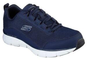 SKECHERS-SYNERGY-3-EYRKO-52585-NVY-Memory-scarpe-uomo-sportive-sneakers-pelle