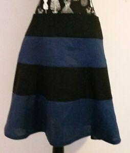 NEW-Linen-colour-block-tier-skirt-size-12