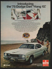 1975 DODGE DART Hang Ten Car - Surf - Sexy Woman Surfer - Ocean Beach VINTAGE AD