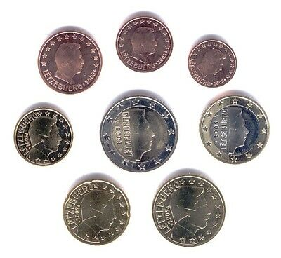 Luxembourg 2005 - Set of 8 Euro Coins (UNC)
