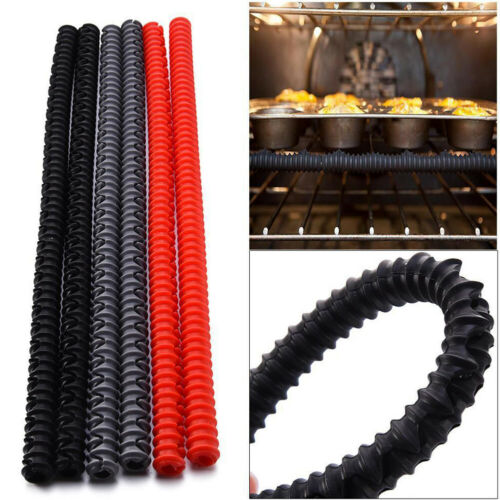 Details about  /AG/_ Heat Insulated Silicone Oven Shelf Rack Guard Clip Avoid Scald Protector Mod