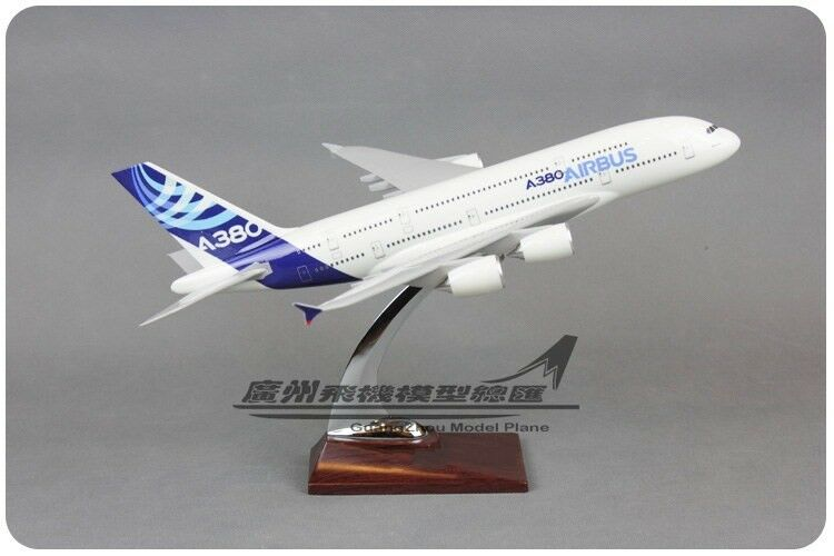 1 215 34CM AIRBUS A380 Passenger Airplane Plane Resin Aircraft Model Collection