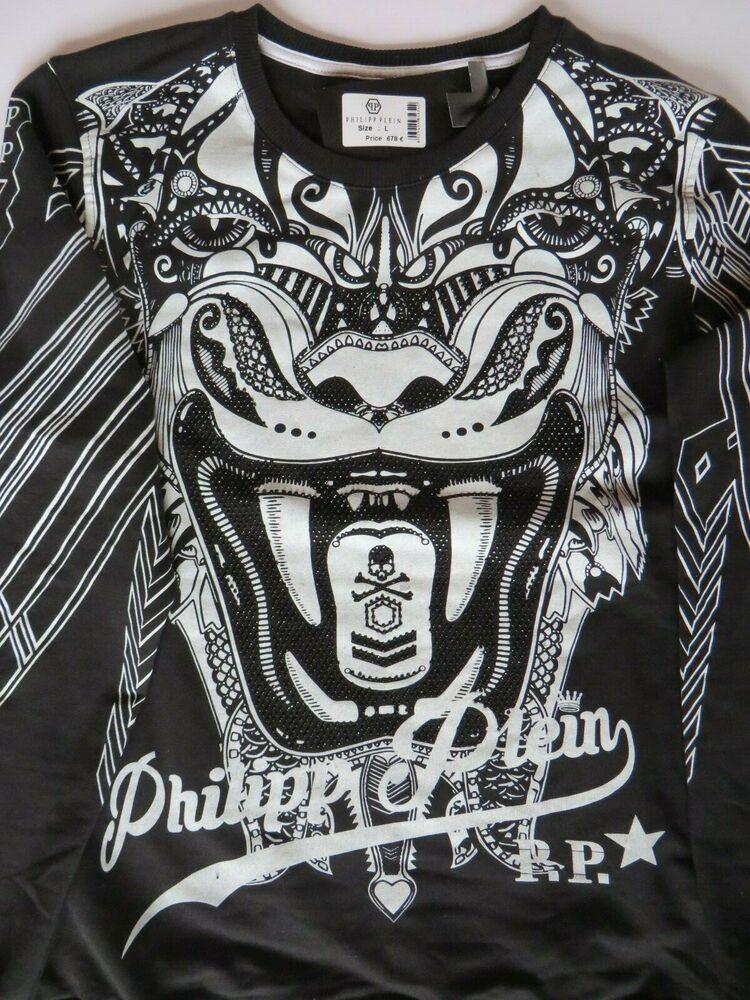 * Philipp Plein * Shirt * Black & White * Luxury From Switzerland * Taille L * Top!
