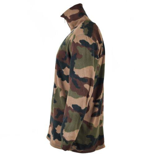 Original French army woodland camo CCE shirt fleece NEW