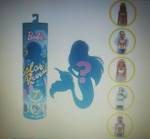 ~ Brand New Sealed Tube Details about  /Barbie Color Reveal MERMAID SERIES ~ 7 SURPRISES!