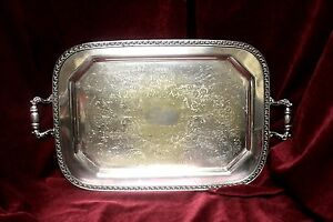 Vintage-Sheet-Rockford-Co-Silver-Plated-Butler-039-s-Tray