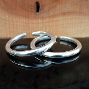 Beautiful-Handmade-Cuff-Bracelet-925-Silver-Smooth-Jewelry-1-PCS-Women-Bangle