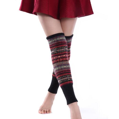 Winter Warm Womens Knit Soft Crochet Cotton Thick Long Socks Thigh-High Leggings