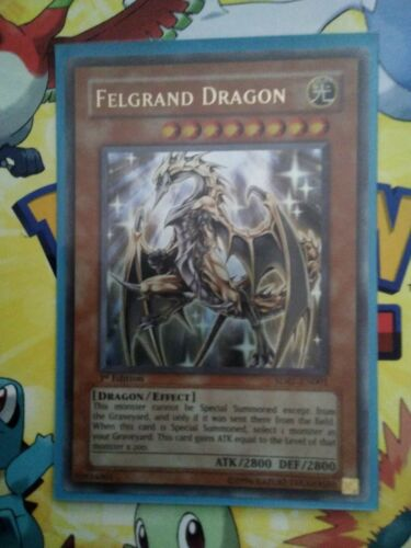 Yu-Gi-Oh Felgrand Dragon sdre-en001 1st edition Foil gold text