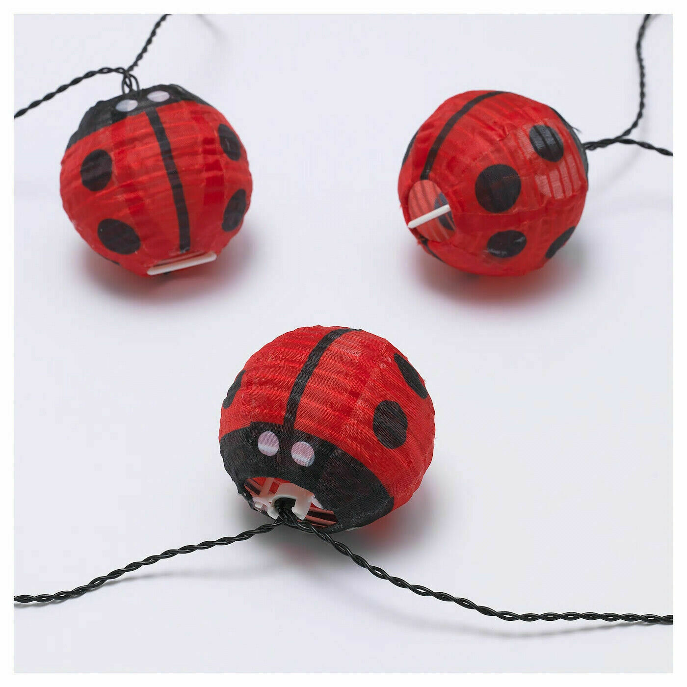 Ikea Solvinden Led String With 12 Lights Battery Operated Outdoor Bumble Bee For Sale Online Ebay