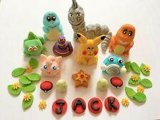 Edible In The Style Of Pokemon Pickachu Big Set Cake Topper Decoration