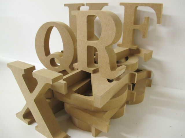 20 WOODEN FREESTANDING LETTERS (A-Z Available) Premium Quality 100mm high 18mm