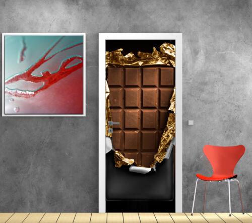 Stickers pour porte trompe l/'oeil déco Chocolat réf 788