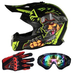 Hot-Protector-Motocross-Casques-Lunettes-Gants-DOT-Moto-Racing-Dirt-Bike-SH