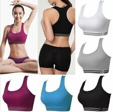 Seamless Racerback Sports Bra Yoga Fitness Padded Stretch Workout Top Tank Bra