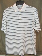 4b5274ba56 item 1 Mens Size M Nike Golf Dri Fit Polo Shirt White w  Blue Brown Stripe  -Mens Size M Nike Golf Dri Fit Polo Shirt White w  Blue Brown Stripe