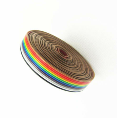 TOP 10 WAY 10P Flat Color Rainbow Ribbon Cable Wire 1.27mm ASS
