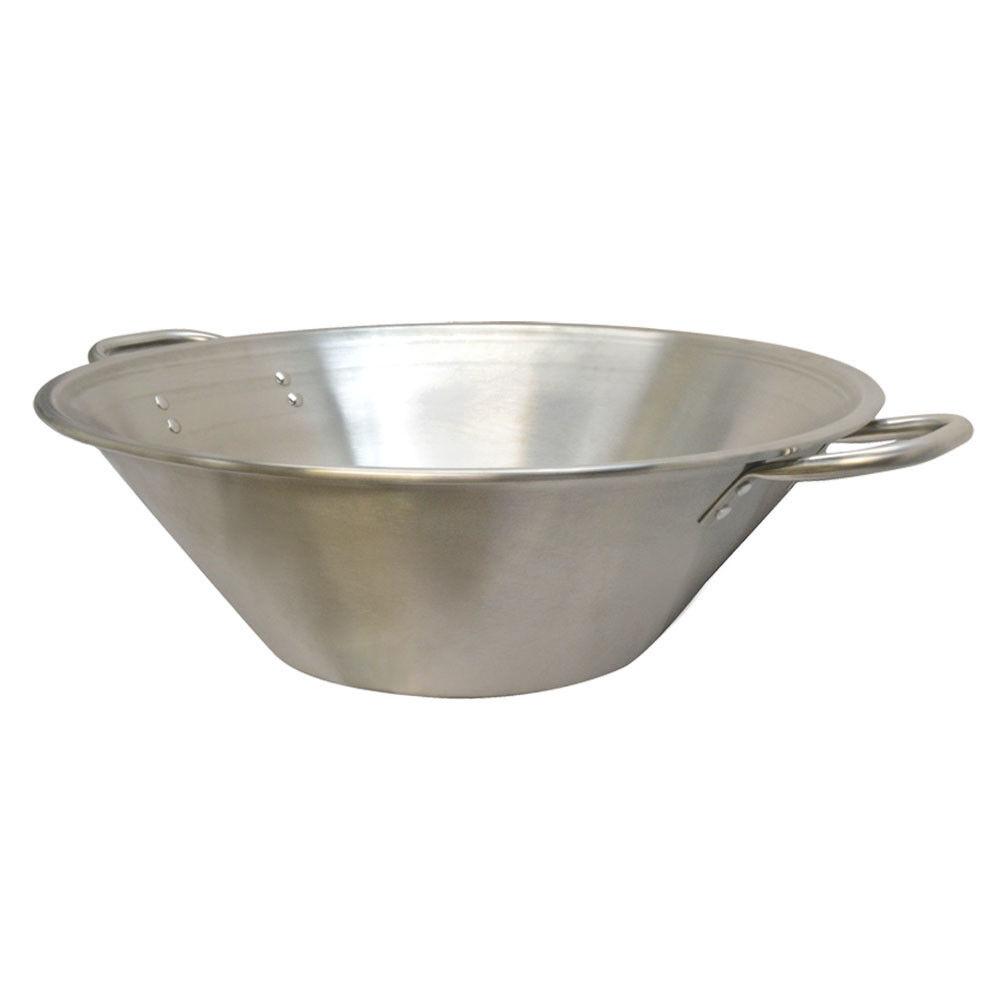 22-1 2 Inch Carnitas Cazo Stainless Steel Caso Pot Pan Wok Gas Stove