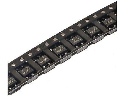 100Pcs MB6S 0.5A 600V Miniature Mini SMD Bridge Rectifier New