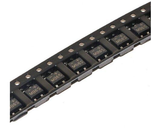 20Pcs MB6S 0.5A 600V Miniature Mini SMD Bridge Rectifier New