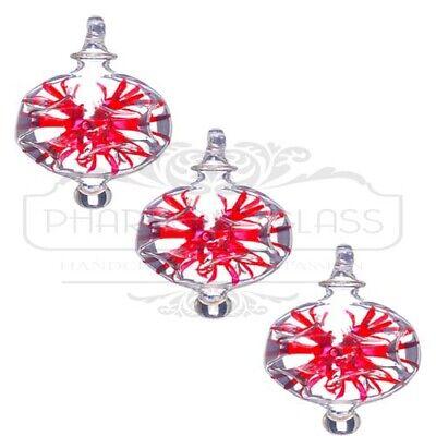 Handmade snowflake ornaments set of 3