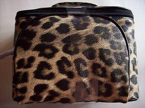 Calvin-Klein-Handbag-Carry-Cosmetic-Bundle-Zip-Top-Tote-Travel-2-Bags-Animal-NWT