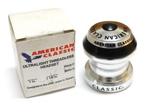 "American Classic Ultra-Light 34mm 1 1//8/"" Threadless Headset w//top cap Silver"