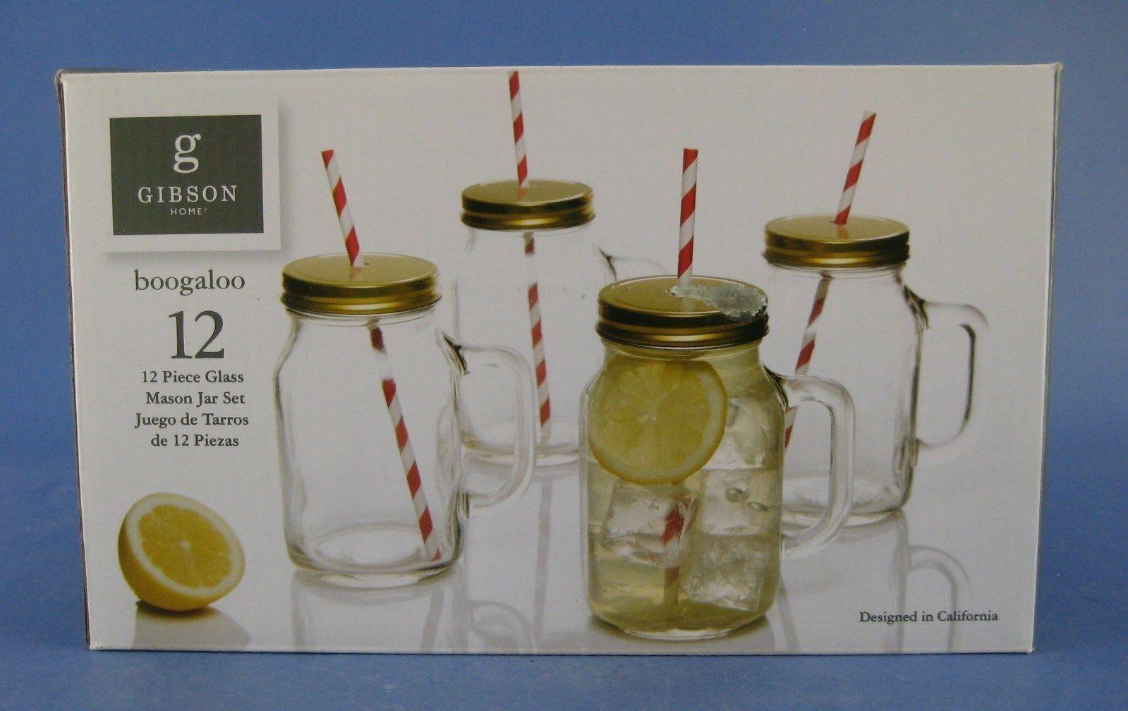 Gibson Home Decha 4-Piece 19 oz Mason Jar Glass Set Glass