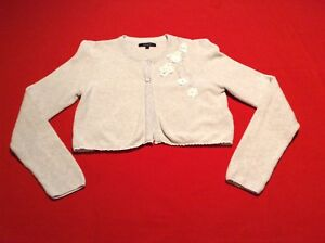 Oatmeal-Girls-Cardigan-Autograph-by-M-amp-S-Age-9-10-Flower-Detailing