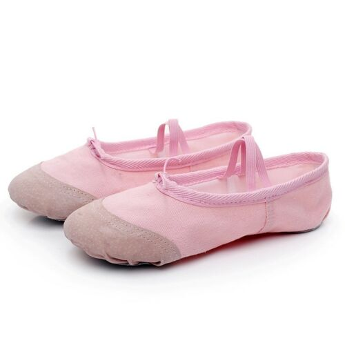 Adults Kids Ballet Shoes Suede Sole Dance Toe Shoes Yoga Gymnastics Slippers