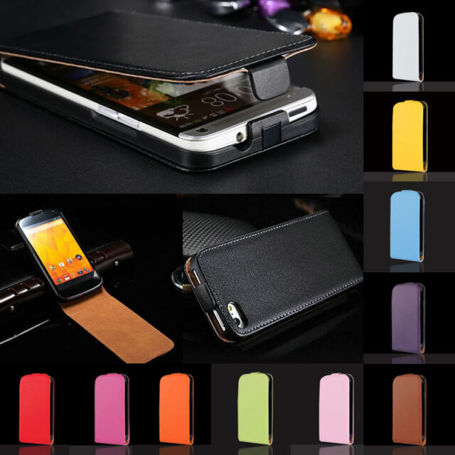 Luxury Glossy GENUINE Real Leather Fitted Case Cover For Nokia Lumia