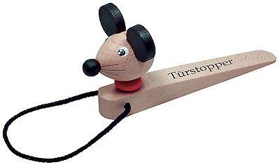 Mit Figur Maus Ehrlich Türstopper Türkeil Windschutz Aus Buchenholz L 20 Cm