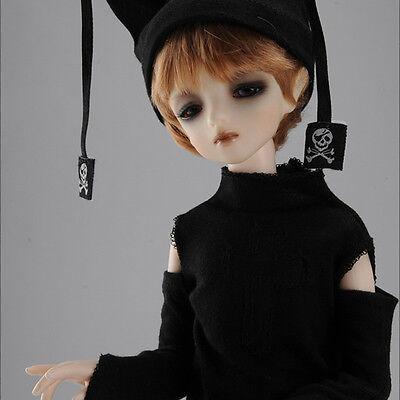 DOLLMORE 1//4 BJD tshirts and hat set MSD SIZE Black A7 Jinguc T Set