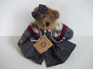 "Boyds Bears Zelma G Berriweather 1998 Plush FOB 11"" Mocha Archive Bear EUC"