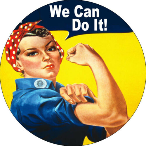 CHAPA//BADGE WE CAN DO IT pin button j howard miller rosie the riveter