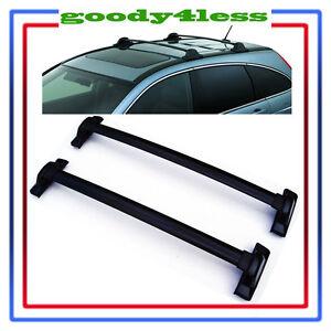 For 2007 2011 Honda Crv Black Roof Top Rail Rack Cross Bars Carrier Ebay